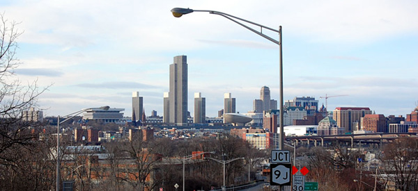Albany Empire State Plaza and Skyline from Rensselaer